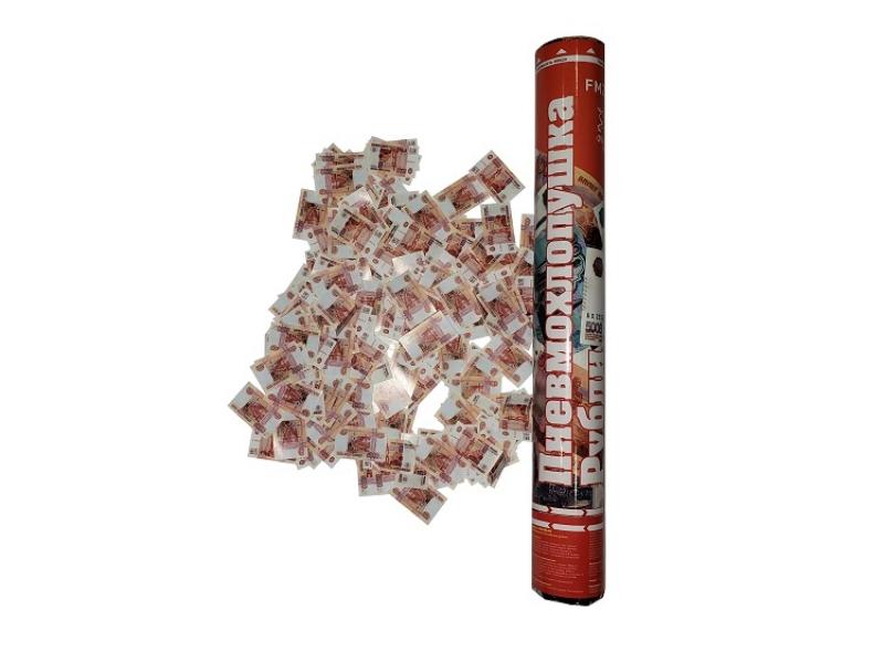 Пневмохлопушка 40 см Бумажные рубли
