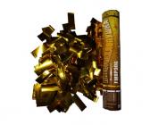 Пневмохлопушка 30 см Золотое конфетти из металлической фольги