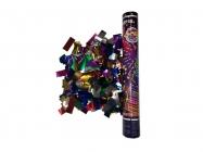 Пневмохлопушка 30 см Цветное конфетти из металлической фольги