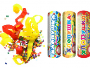 Хлопушка конфетти- серпантин 100мм 1шт